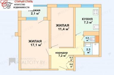 Продажа двухкомнатной квартиры во Фрунзенском районе Минска